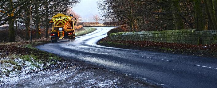 winter gritting lorry